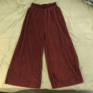 Maroon Long Culottes
