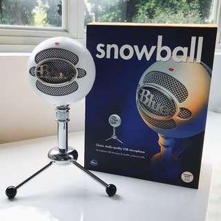 BLUE Snowball Class Studio-Quality USB Microphone (White)