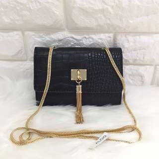 Aldo women black chain sling bag