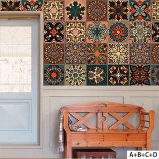 Vintage Wallpaper Peranakan 1 Set =3 Designs for $15