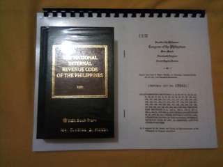 NIRC with free copy of TRAIN Law (R.A. 10963)