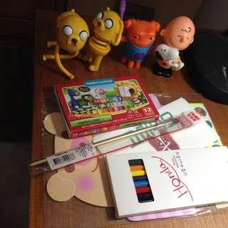 探險活寶史努比查理公仔+生日卡片禮物驚喜包蠟筆色鉛筆信紙貼紙