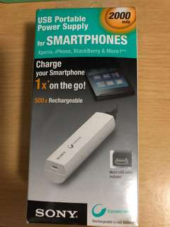 Sony CP-ELS 2000mAh USB portable Power Supply