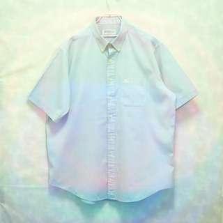 三件7折🎊 Burberry 短袖襯衫 襯衫 淺藍 電繡logo 胸前口袋 極稀有 老品 復古 古著 Vintage