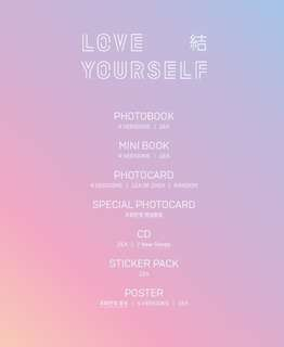 🚚 4SET BTS LOVE YOUSELF ABLUM  PREORDER NOW GROUP BUY SO PLACE YOUR ORDER NOW !