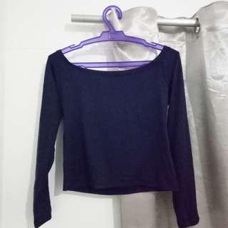 Long-sleeved Off shoulder