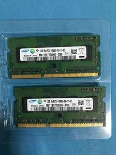 Samsung Ram 4GB (2x 2GB) DDR3 1333mhz