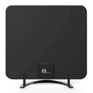1513. 1byone Freeview TV Aerial with Stand - HDTV Antenna with Excellent Performance for Digital Freeview and Analog TV Signals, Indoor Digital TV Aerial with cable for VHF / UHF / FM, Soft Design