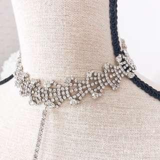 💚 Zaful rhinestone crystal choker • jewelry accessories