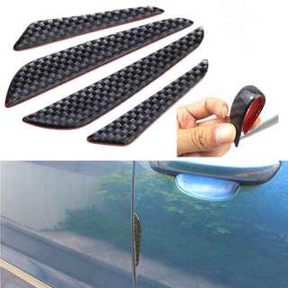 Carbon Fiber Car Door Edge Guard Strip Scratch Protector Anti-collision Trim