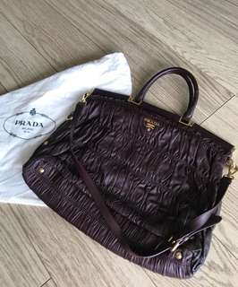 Prada Purple lamb skin bag
