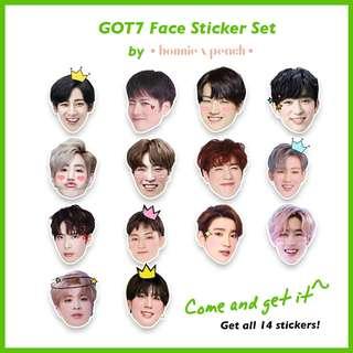 GOT7 Face Sticker Set