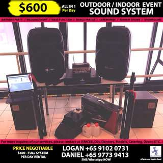 OUTDOOR & INDOOR EVENT PA/SOUND SYSTEM