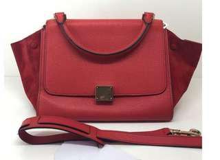 Celine Trapeze in Red Vermillion small size
