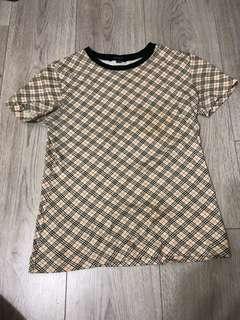 🚚 Burberry 黑標格紋T-shirt(正版)