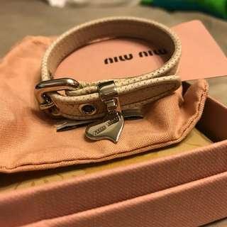 全新Miu miu bracelet 手帶
