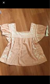 Forever 21 peach baby doll blouse