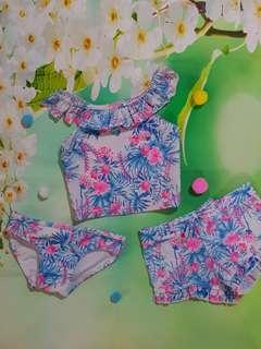 (6-12 months) baby girl floral swimwear
