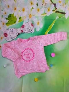 (0-3 months) Baby girl knitwear