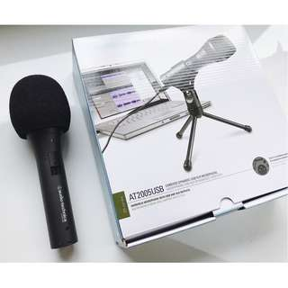 Audio-Technica AT2005USB Cardioid Dynamic USB/XLR Microphone (no mic stand and clamp)