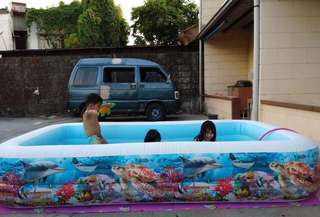 Intex inflatable swimming pool