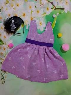 (6-12months) Baby girl purple dress