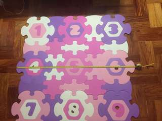 Flower Numbers Rubber Mat