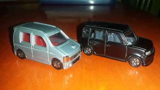 Tomica Toyota Bb & Suzuki wagon R