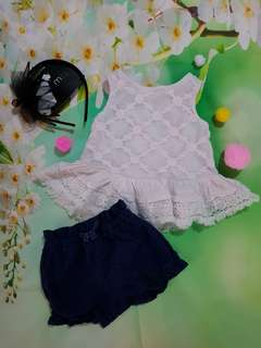 (0-3months) baby girl casual outfit *set