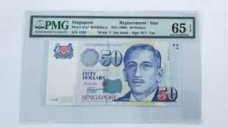 $50, 1JJ. Replacement note