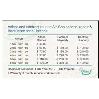 aircon service , repair , chemical & installation (NO GST) CALL 81271021 / 62873478