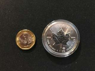 Maple Leave 9999 Silver Proof Coin