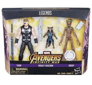 Marvel Legends - Thor , Rocket Raccoon & Groot (訂)