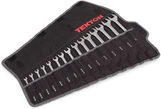 TEKTON Combination wrench set, 1/4-Inch - 1-Inch, 15-Pieces