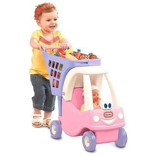 (In-Stock) Little Tikes Princess Cozy Coupe Shopping Cart, Exclusive Color - Pink/Purple (Brand New)