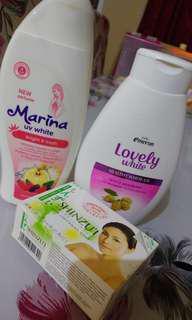 2 Body lotion + sabun shinzui