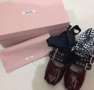 Miu miu ballet shoes flats 芭蕾舞鞋 平底鞋