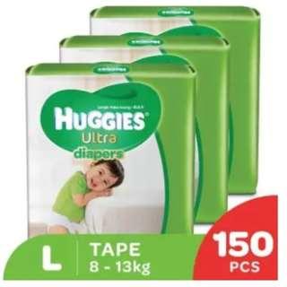 Huggies Ultra Diapers L50 Super Jumbo (3 Pack)