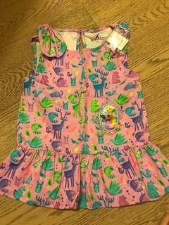 2手低放 超新 長髮公主背心  Disney 迪士尼 公主蝴蝶袖 粉紫色 花邊背心 ruffle vest