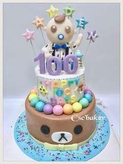 百日宴蛋糕 3d蛋糕 立體蛋糕 bb蛋糕 生日蛋糕 滿月蛋糕