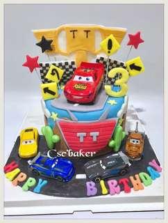 生日蛋糕 立體蛋糕 3d蛋糕 反斗車王蛋糕 McQueen蛋糕