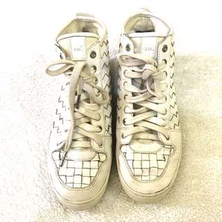 MICHAEL KORS WILLOW WOVEN LEATHER HIGH - TOO SNEAKERS