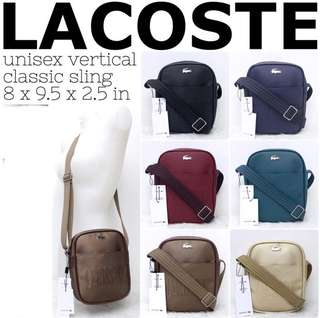 Lacoste Unisex Classic Embossed Sling