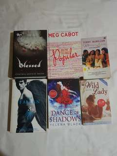 Novel inggris import soft and hard cover