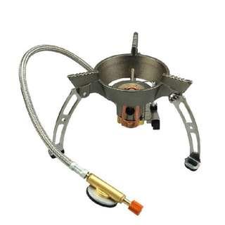BRS-11 高山 爐頭 電子打火 可折疊 高火力 防風火焰 軟管式設計 帶密封塞 送氣罐