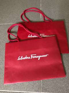 Salvatore Ferragamo Paper Bag Carrier