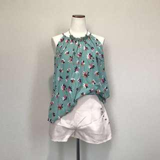 Pretty Minty Halter Blouse