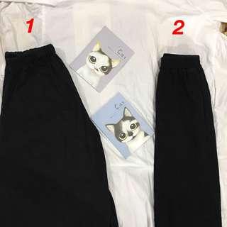 🚚 黑色寬褲(1號較寬)