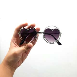 Forever 21 Heart Shades/Sunglasses