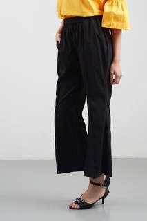 Black pants, celana kantor hitam, kulot hitam